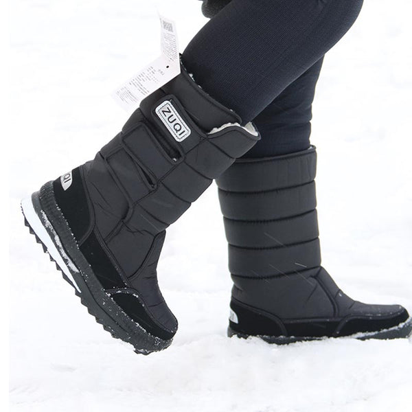 Warm Flat Heel Oxford Winter Snow Boots