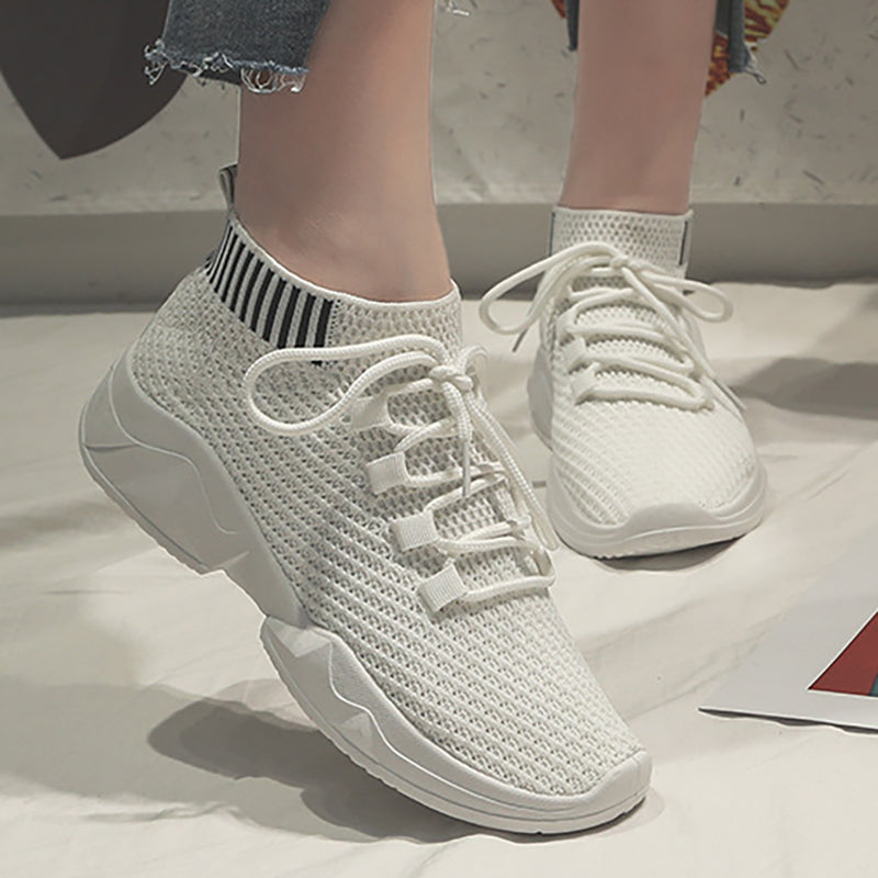 Women Mesh Fabric Sneakers Casual Comfort Slip On Shoes