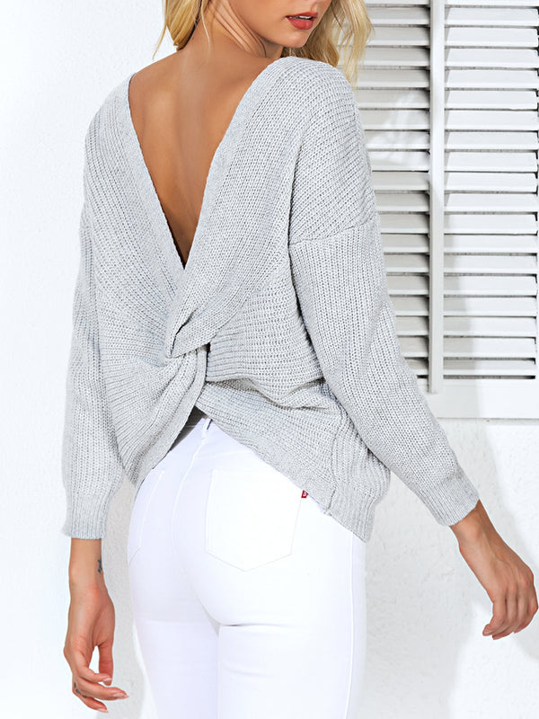 Mostata Women Paneled Casual Long Sleeve Sweater