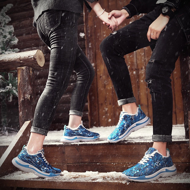 Women's Winter Snow Warm Plush Sneakers Plus Size Shoes