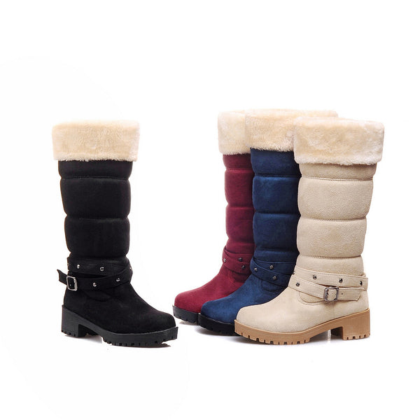 Women Casual Fur Warm Snow Booties
