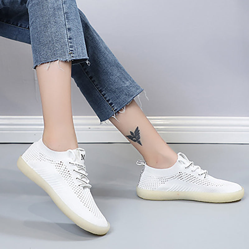 Women Knitted Fabric Sneakers Casual Comfort Breathable Shoes