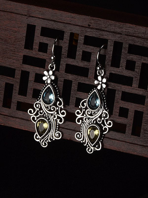 Silver Alloy Vintage Earrings