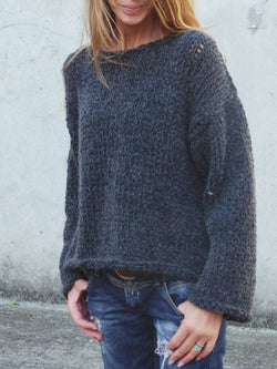 Casual Long Sleeve Knitted plus size Sweater