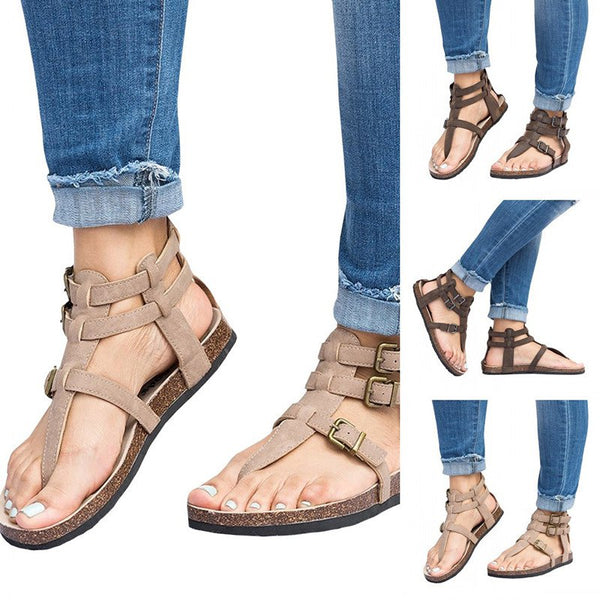 Casual Pu Adjustable Buckle Summer Sandals