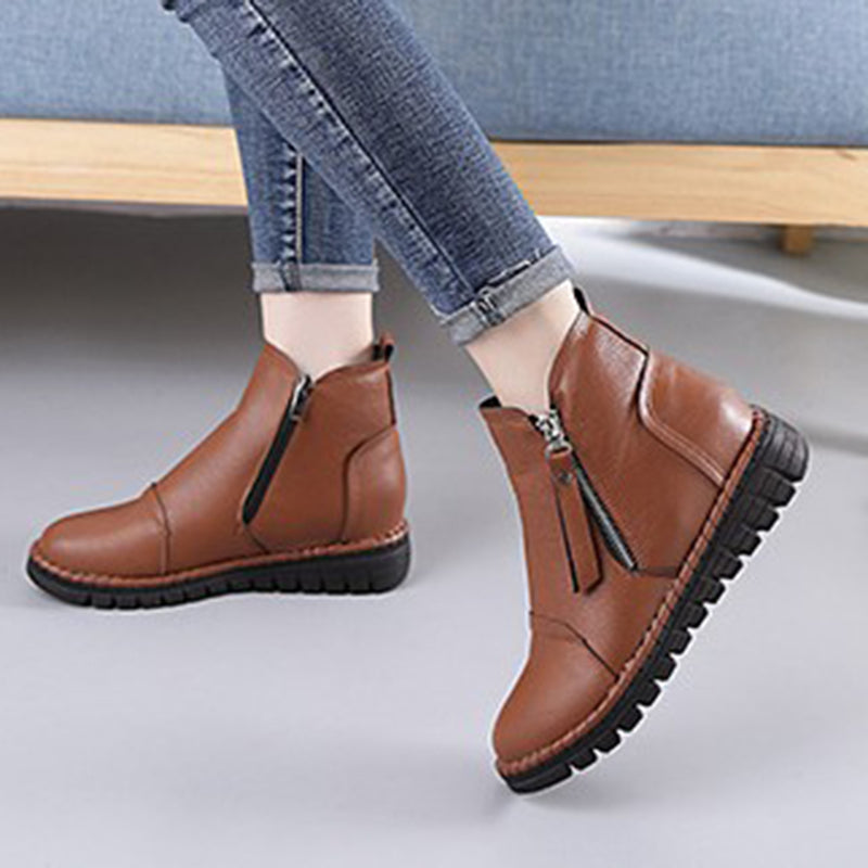 Women Casual Round Toe Ankle Boots