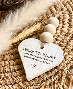 Clay Ornament - Daughter in law