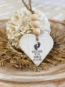 Clay Ornament - Welcome Little One