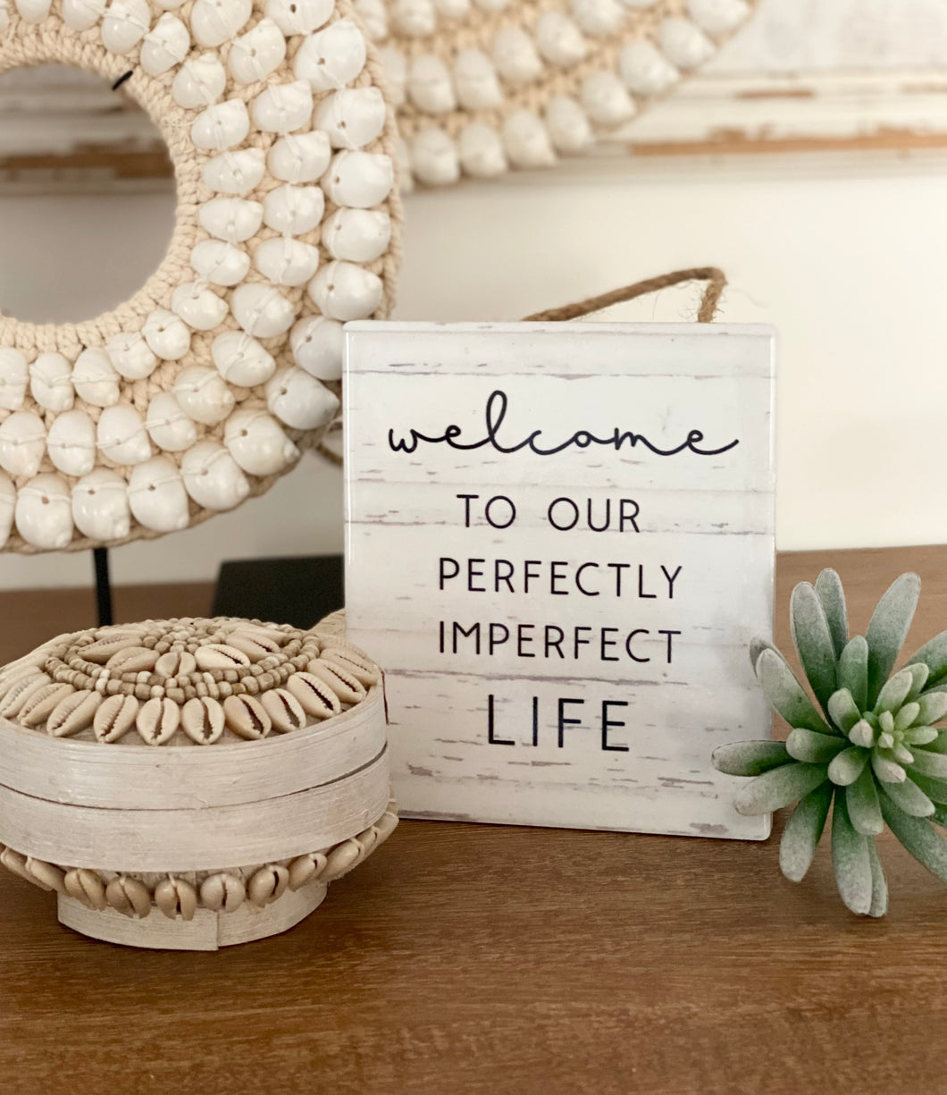 Hanging Wall Plaque - Perfectly Imperfect Life