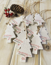 Christmas Tag - Embossed Tree