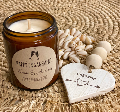 Candle Natural Soy - Personalised Engagement