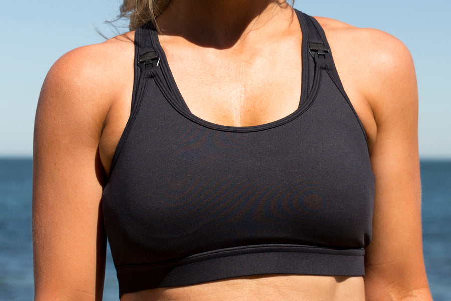 Maximum Support<br>Black | Nursing Sports & Swim Bras | Kiss Active