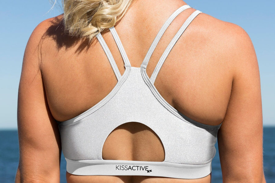 Nursing Sports Bra - Ultimate Support White Leopard