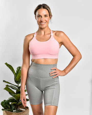MAMA ESSENTIALS NURSING SPORTS BRA PINK