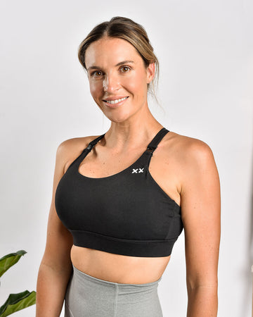 MAMA ESSENTIALS NURSING SPORTS BRA BLACK