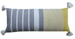 Decorative Long Grey Stripes Throw Pillow Cover - Vibhsa