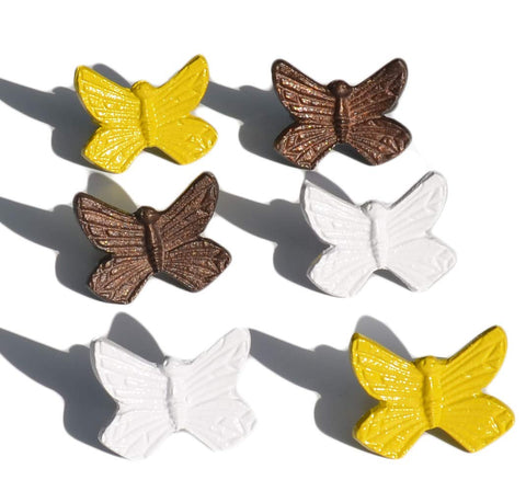 Vibhsa Handcrafted Butterfly Napkin Rings Set of 6 - Vibhsa