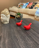 Vibhsa Birds of Health and Happiness Set of 2 (Red)