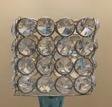 "Hurricane Crystal Candle Holder (Square, 10"")"