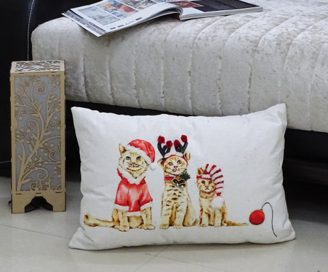 "Chicos Home 14""x 20"" Christmas Throw Pillow for couch"