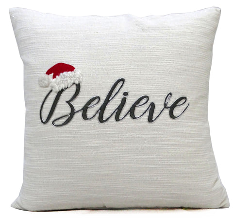 "Chicos Home 20"" x 20"" Christmas Throw Pillow with text"