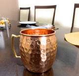 Handcrafted Moscow Mule Mugs, Set of 2