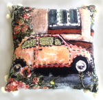Decorative Throw Pillow Cover Fall Collection Vintage Car