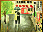 oil color painting of a couple on canvas to gift