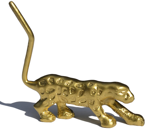 Vibhsa Handcrafted Cheetah Ring Holder (Golden) - Vibhsa