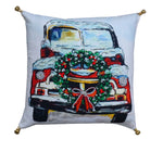 Decorative Throw Pillow Cover Christmas Collection Holiday Car