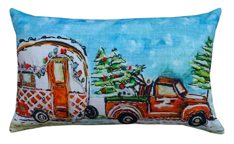 Decorative Throw Pillow of Christmas Collection Caravan