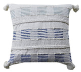 Chicos Home Throw Pillow Cover Blue & White Square - Vibhsa