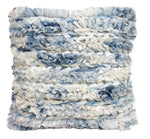Chicos Home Throw Pillow Cover Blue & White Furry - Vibhsa