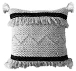 Chicos Home Throw Pillow Cover Black & Beige Stripes - Vibhsa