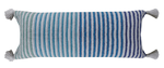 Chicos Home Beach Style Throw Pillow Cover Blue Stripes - Vibhsa