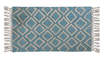 Accent Rugs Sky Blue Diamond Pattern - Vibhsa