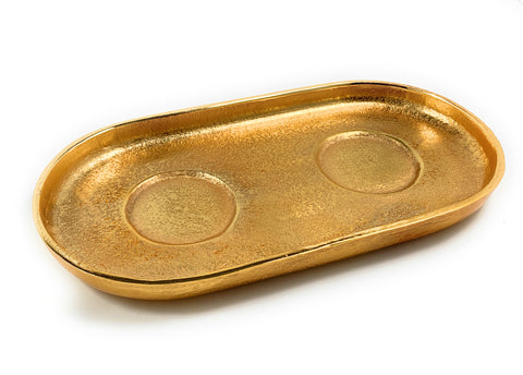 Decorative Golden Serving Tray - Vibhsa