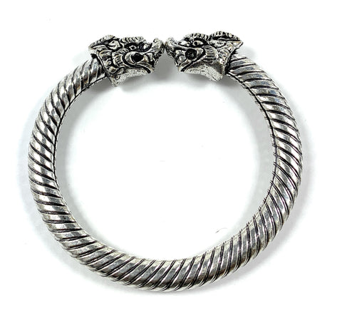 Antique Norse Viking Bracelet Dragon Heads - Vibhsa