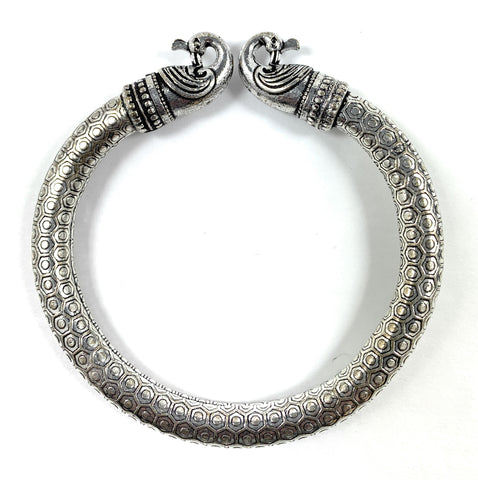 Antique Norse Peacock Head Viking Bracelet - Vibhsa