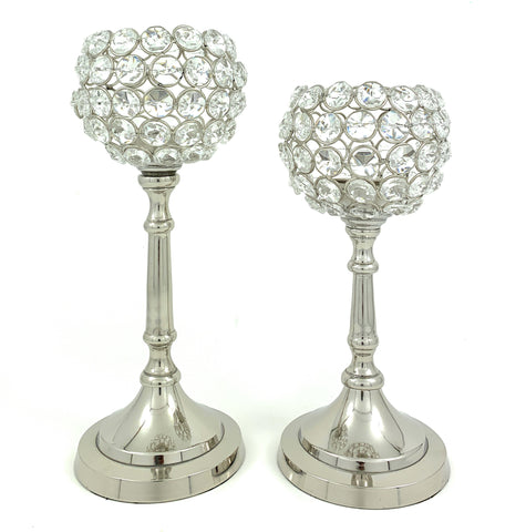 Vibhsa Hurricane  Set of 2 Crystal Candle Holder - Vibhsa