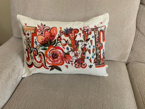 Chicos Home Decorative Love Throw Pillow Covers