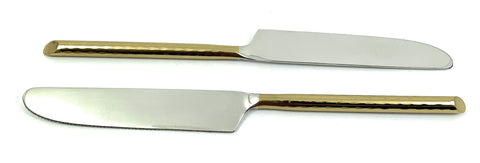 Vibhsa Golden Silverware Dinner Knives set of 6