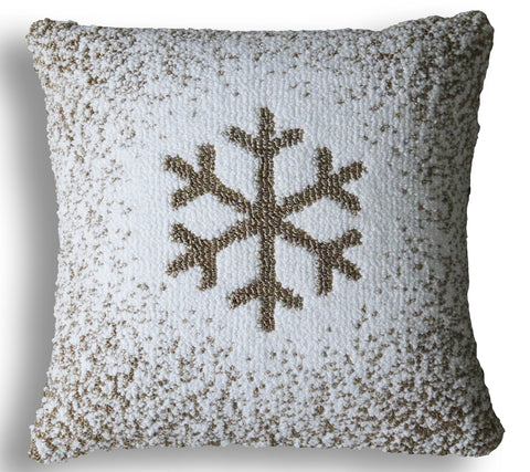 Chicos Home Ombre Snowflake Decorative Cushion Cover - Vibhsa