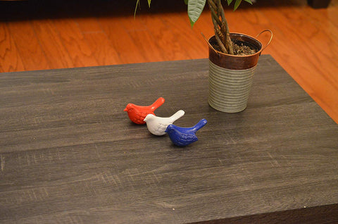 Vibhsa Bird Figurines Symbols of Health & Happiness (Blue, Red & White)