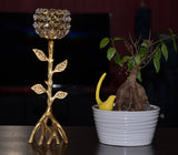 Golden Tree Hurricane Candle Holder - Vibhsa