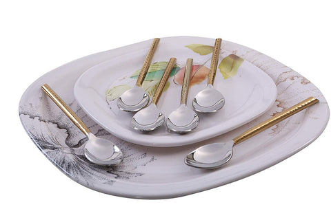 Small Spoon Tableware with Golden Handle - Vibhsa