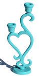 Vibhsa Decorative Turquoise Candle Holder Heart Shape - Vibhsa