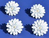 Vibhsa White Floral Set of 12 Napkin Rings