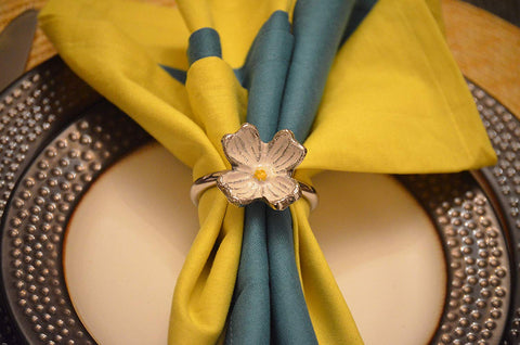 Vibhsa Decorative Flower Napkin Rings Set of 4 - Vibhsa