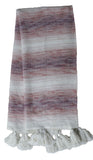 Hand loom Woven Textured Throw Blush/Lavender - Vibhsa